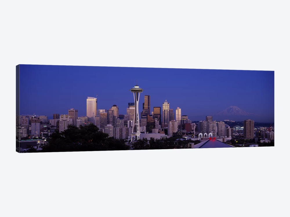 Skyscrapers in a city, Seattle, Washington State, USA #2 by Panoramic Images 1-piece Canvas Artwork
