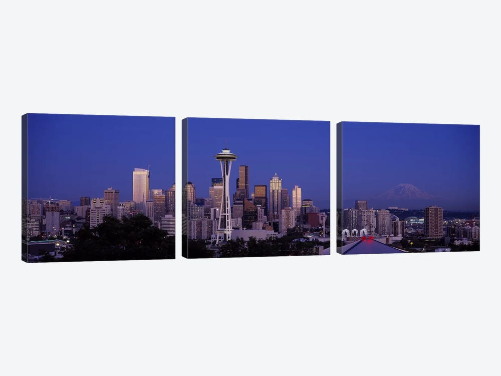 Skyscrapers in a city, Seattle, Washington State, USA #2 by Panoramic Images 3-piece Canvas Art