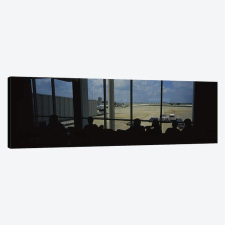 Silhouette of a group of people at an airport lounge, Orlando International Airport, Orlando, Florida, USA Canvas Print #PIM5780} by Panoramic Images Canvas Print