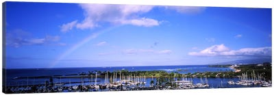 High angle view of boats, Ala Wai, Honolulu, Hawaii, USA #3 Canvas Art Print