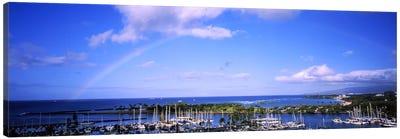 High angle view of boats, Ala Wai, Honolulu, Hawaii, USA #3 Canvas Art Print