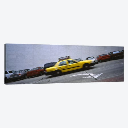 Taxi running on the road, San Francisco, California, USA Canvas Print #PIM5789} by Panoramic Images Canvas Print