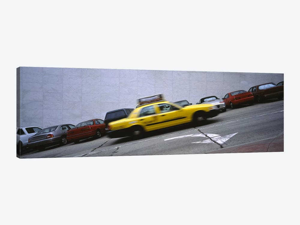 Taxi running on the road, San Francisco, California, USA by Panoramic Images 1-piece Canvas Art