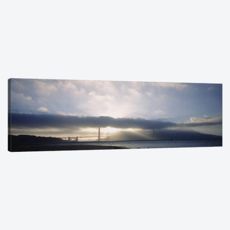 Silhouette of a bridge, Golden Gate Bridge, San Francisco, California, USA Canvas Print #PIM5791} by Panoramic Images Canvas Art