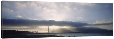 Silhouette of a bridge, Golden Gate Bridge, San Francisco, California, USA Canvas Print #PIM5791