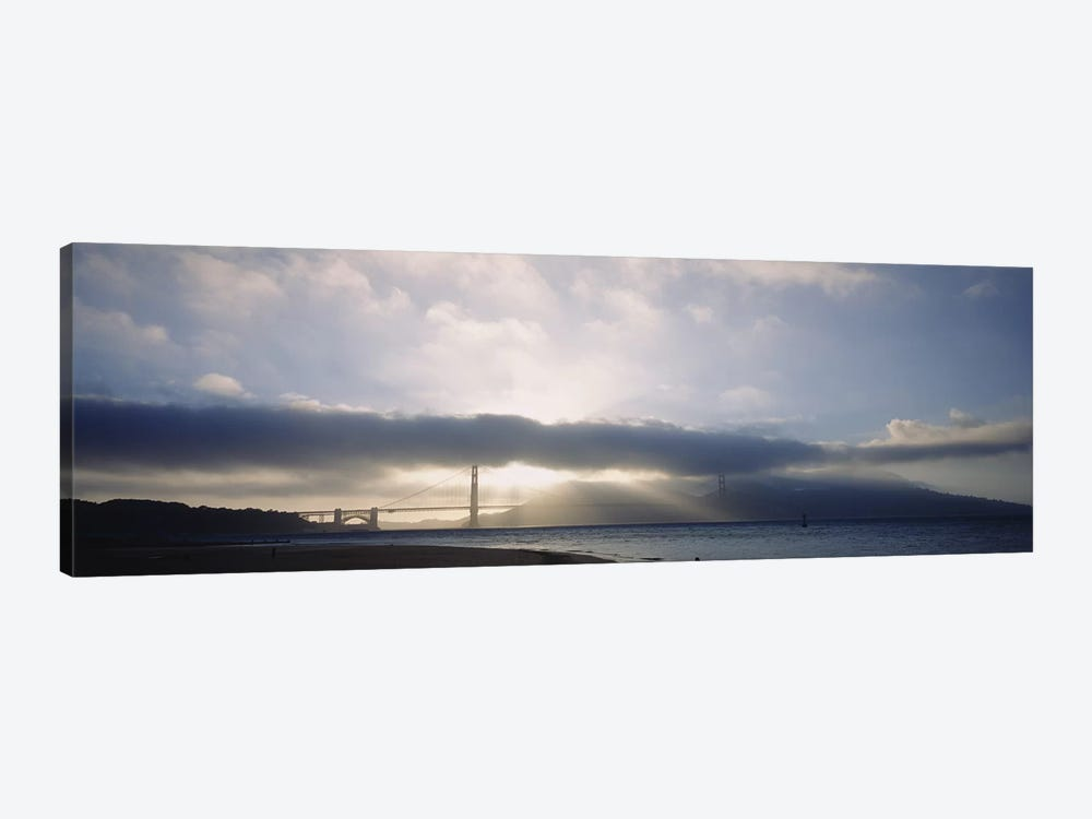 Silhouette of a bridge, Golden Gate Bridge, San Francisco, California, USA 1-piece Art Print