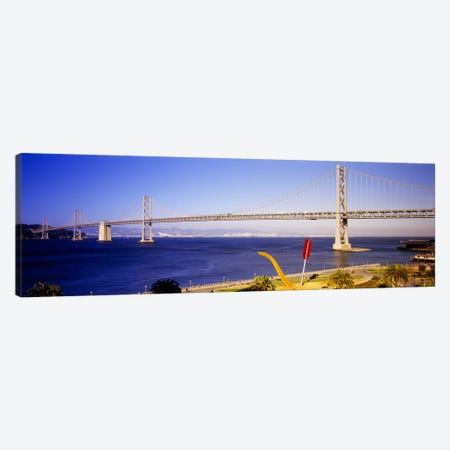 Bridge over an inlet, Bay Bridge, San Francisco, California, USA Canvas Print #PIM5792} by Panoramic Images Canvas Artwork