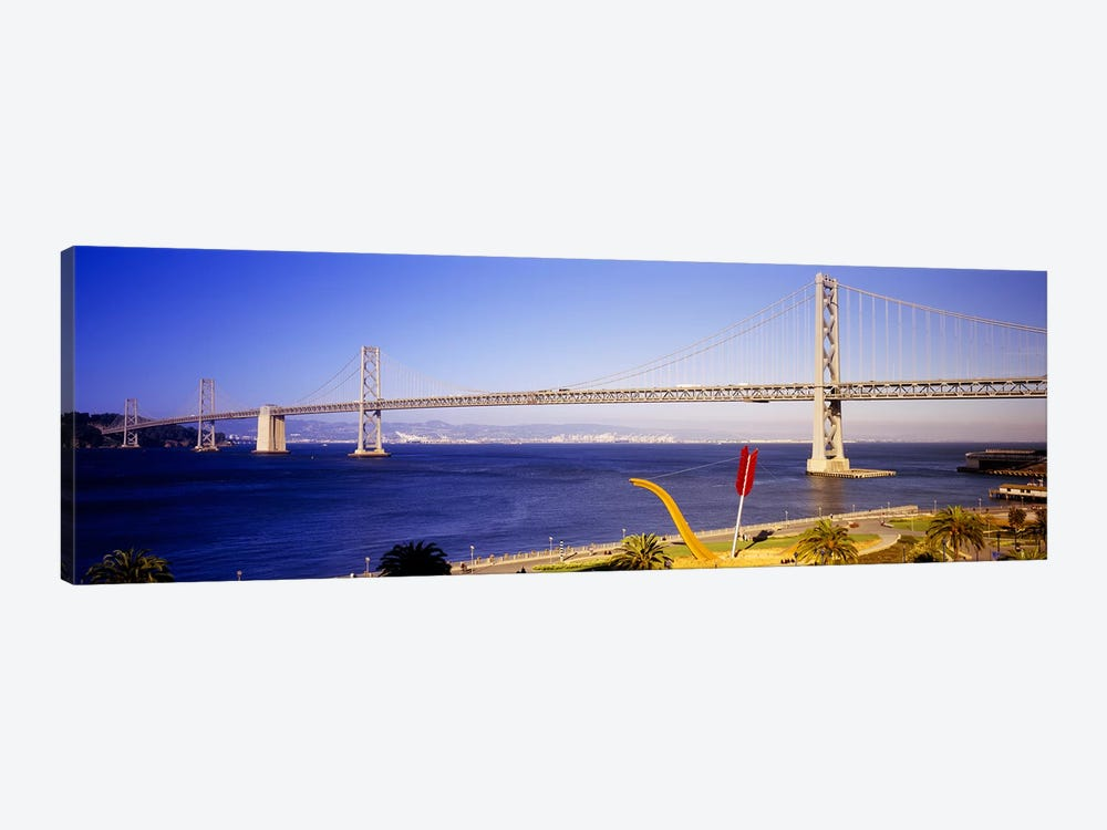 Bridge over an inlet, Bay Bridge, San Francisco, California, USA by Panoramic Images 1-piece Canvas Art