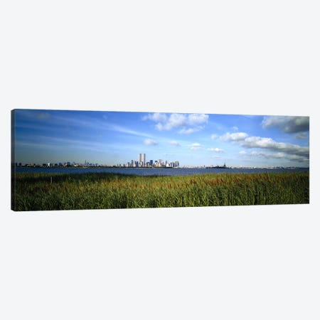 Buildings at the waterfront, New Jersey, New York City, New York State, USA Canvas Print #PIM5796} by Panoramic Images Art Print