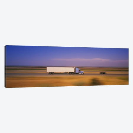 Blurred Motion View Of Traffic, Interstate 5 (I-5), California, USA Canvas Print #PIM5798} by Panoramic Images Canvas Wall Art