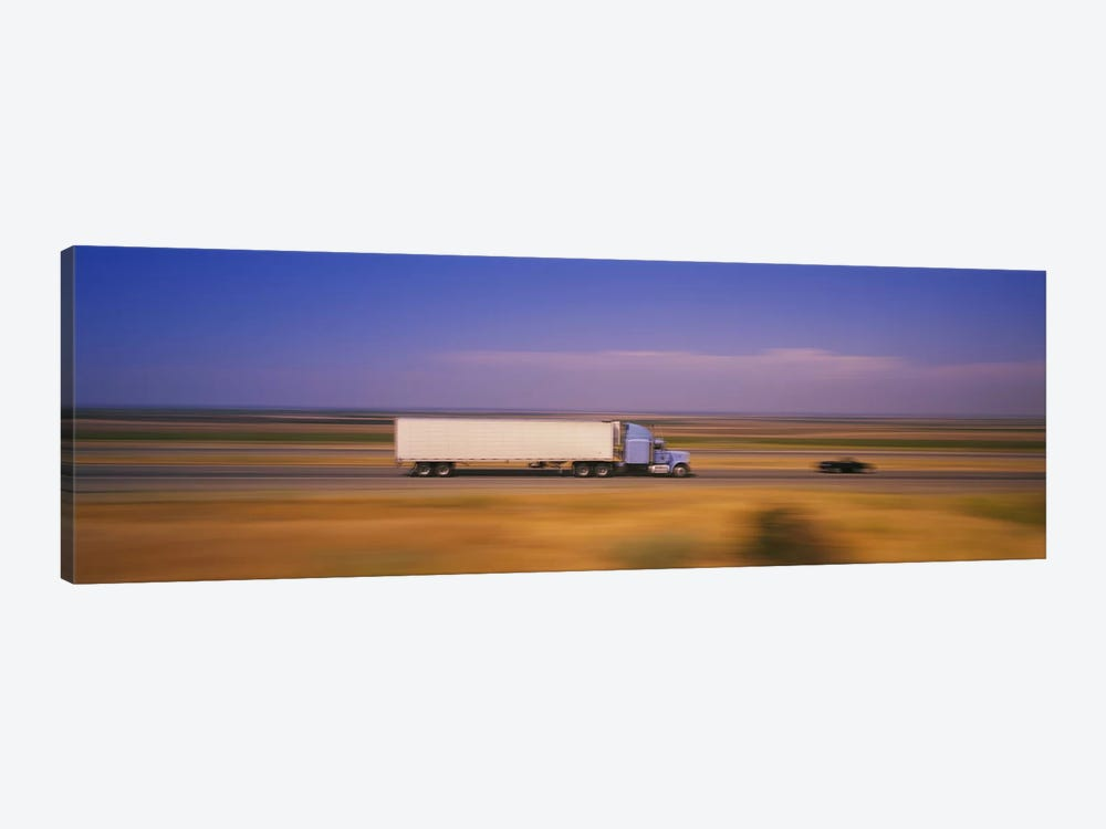 Blurred Motion View Of Traffic, Interstate 5 (I-5), California, USA by Panoramic Images 1-piece Canvas Wall Art