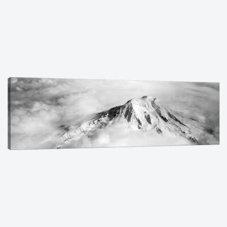 Aerial view of a snowcapped mountain, Mt Rainier, Mt Rainier National Park, Washington State, USA Canvas Print #PIM5799} by Panoramic Images Canvas Artwork