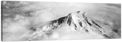 Aerial view of a snowcapped mountain, Mt Rainier, Mt Rainier National Park, Washington State, USA Canvas Art Print