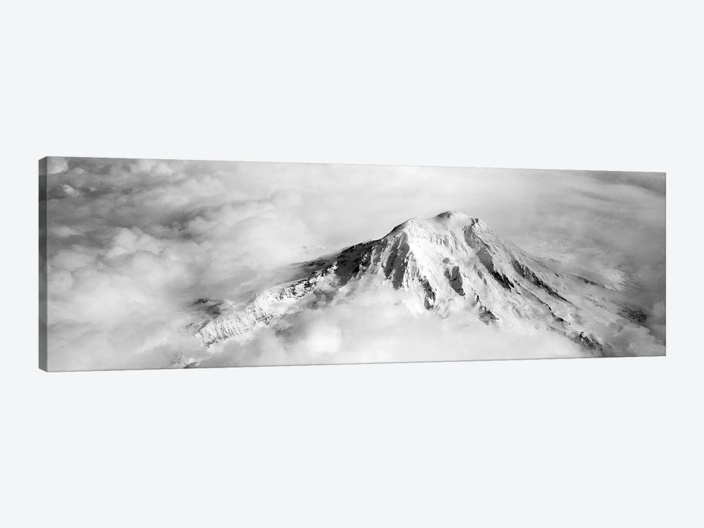 Aerial view of a snowcapped mountain, Mt Rainier, Mt Rainier National Park, Washington State, USA by Panoramic Images 1-piece Canvas Art Print