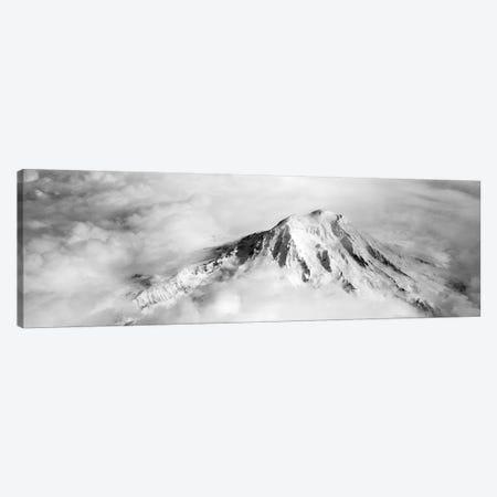 Aerial view of a snowcapped mountain, Mt Rainier, Mt Rainier National Park, Washington State, USA Canvas Print #PIM5799} by Panoramic Images Canvas Artwork