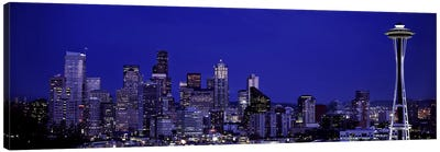Skyscrapers in a citySeattle, Washington State, USA Canvas Print #PIM5800