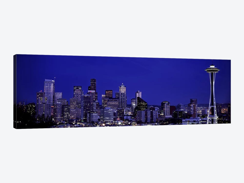 Skyscrapers in a citySeattle, Washington State, USA by Panoramic Images 1-piece Canvas Art Print