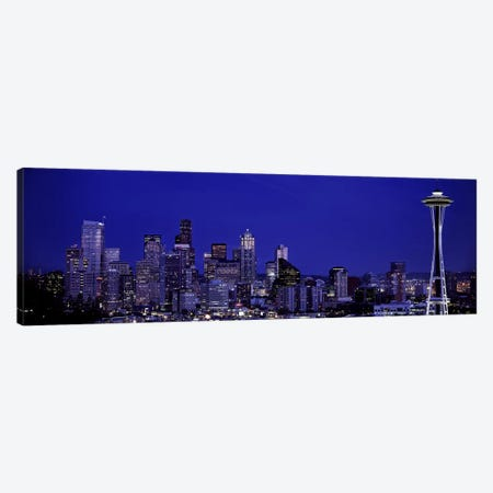 Skyscrapers in a citySeattle, Washington State, USA Canvas Print #PIM5800} by Panoramic Images Canvas Wall Art