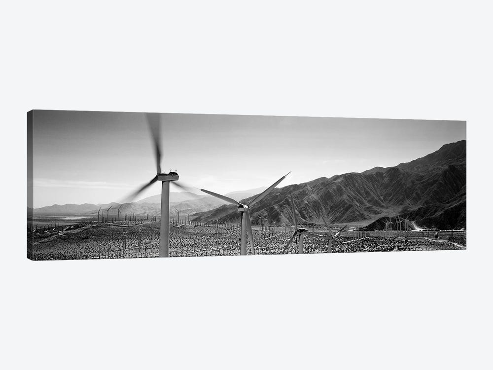 Wind turbines on a landscape by Panoramic Images 1-piece Canvas Art