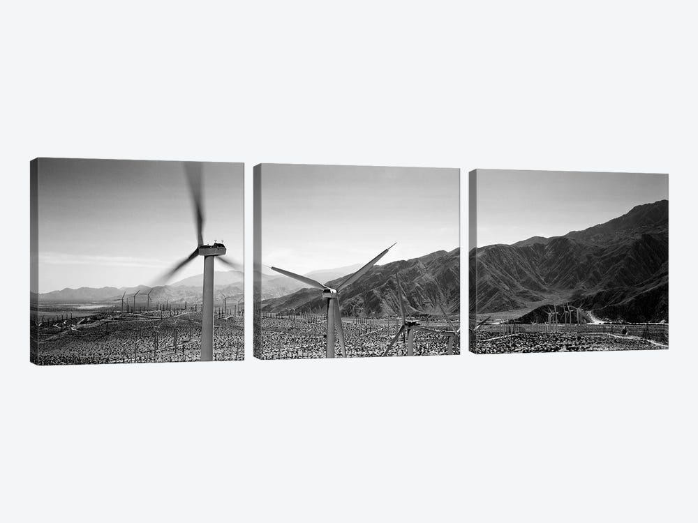 Wind turbines on a landscape by Panoramic Images 3-piece Canvas Artwork