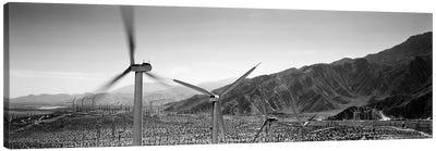 Wind turbines on a landscape Canvas Art Print