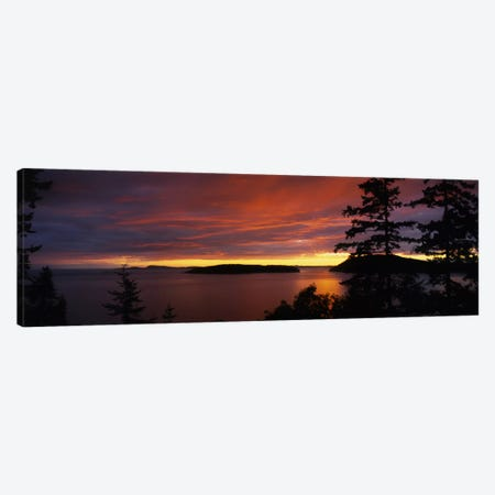 Clouds over the sea at dusk, Rosario Strait, San Juan Islands, Fidalgo Island, Skagit County, Washington State, USA Canvas Print #PIM5802} by Panoramic Images Canvas Artwork