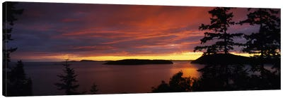 Clouds over the sea at dusk, Rosario Strait, San Juan Islands, Fidalgo Island, Skagit County, Washington State, USA Canvas Art Print