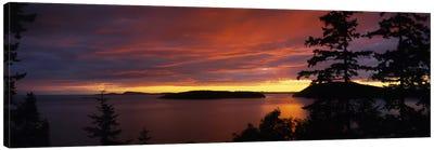 Clouds over the sea at dusk, Rosario Strait, San Juan Islands, Fidalgo Island, Skagit County, Washington State, USA Canvas Print #PIM5802