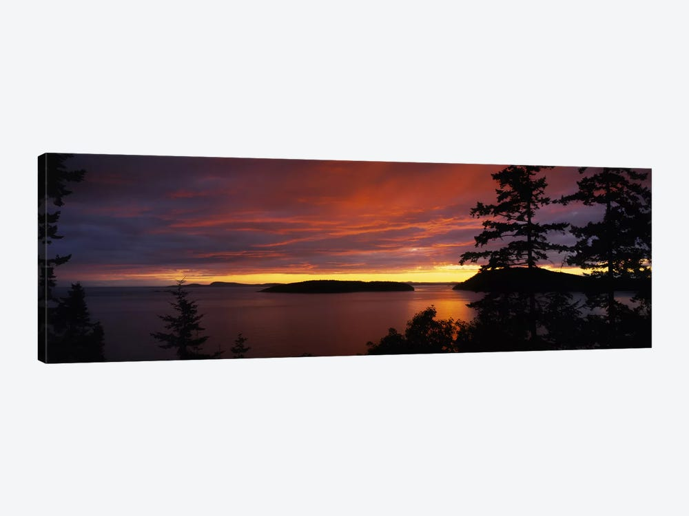 Clouds over the sea at dusk, Rosario Strait, San Juan Islands, Fidalgo Island, Skagit County, Washington State, USA by Panoramic Images 1-piece Canvas Art Print