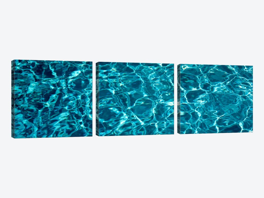 Swimming Pool Ripples Sacramento CA USA by Panoramic Images 3-piece Canvas Art