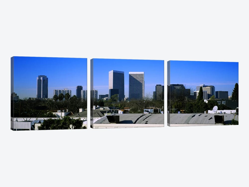 Buildings and skyscrapers in a city, Century City, City of Los Angeles, California, USA by Panoramic Images 3-piece Canvas Wall Art