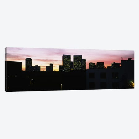 Silhouette of buildings in a city, Century City, City of Los Angeles, California, USA Canvas Print #PIM5811} by Panoramic Images Canvas Print