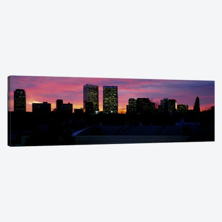 Silhouette of buildings in a city, Century City, City of Los Angeles, California, USA #2 Canvas Print #PIM5812} by Panoramic Images Art Print