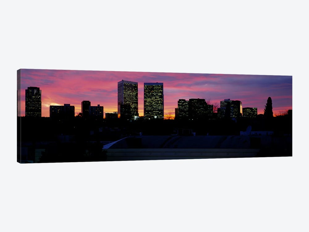 Silhouette of buildings in a city, Century City, City of Los Angeles, California, USA #2 by Panoramic Images 1-piece Canvas Art