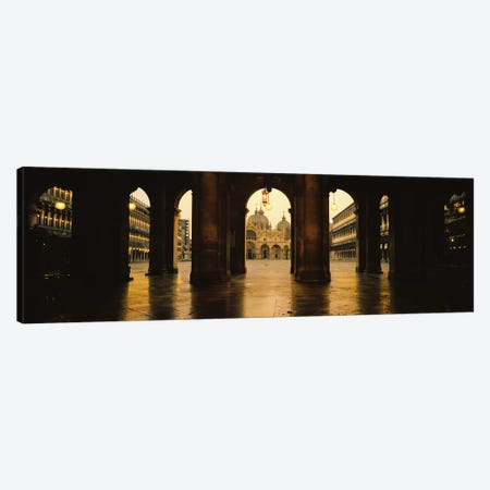 St. Mark's Basilica As Seen From The Arcade At The Opposite End Of St. Mark's Square, Venice, Italy Canvas Print #PIM5817} by Panoramic Images Canvas Artwork