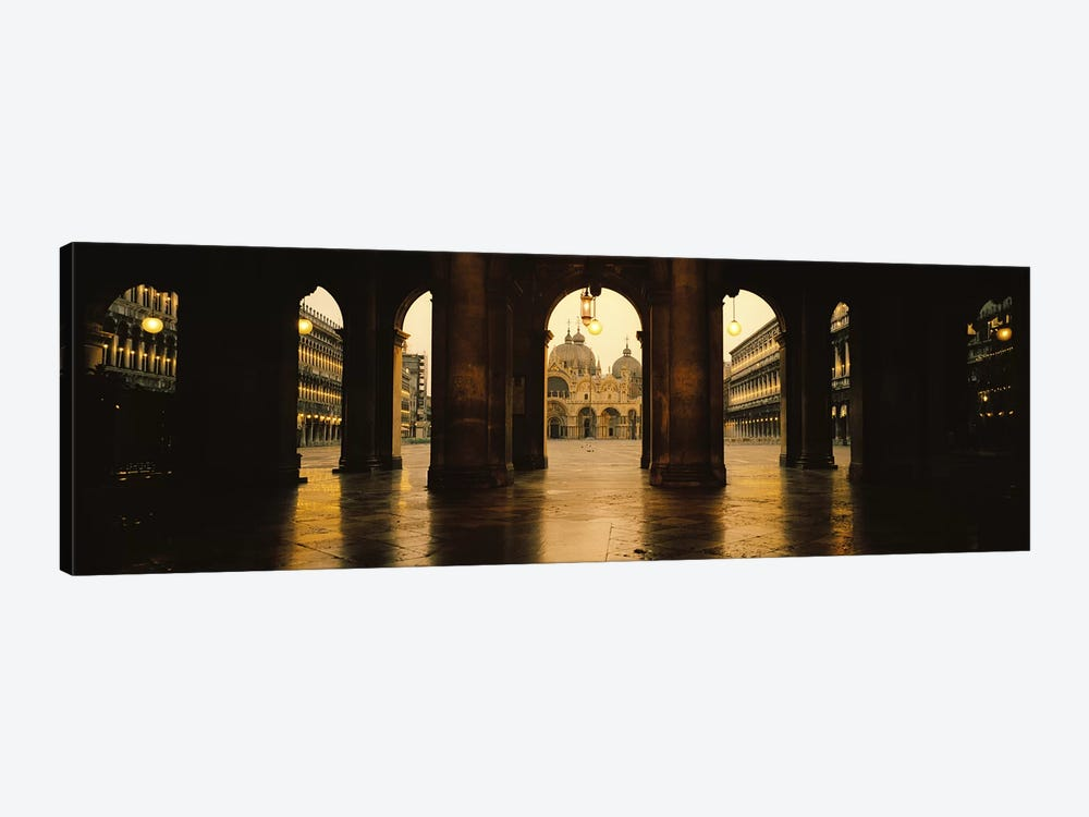 St. Mark's Basilica As Seen From The Arcade At The Opposite End Of St. Mark's Square, Venice, Italy by Panoramic Images 1-piece Canvas Print