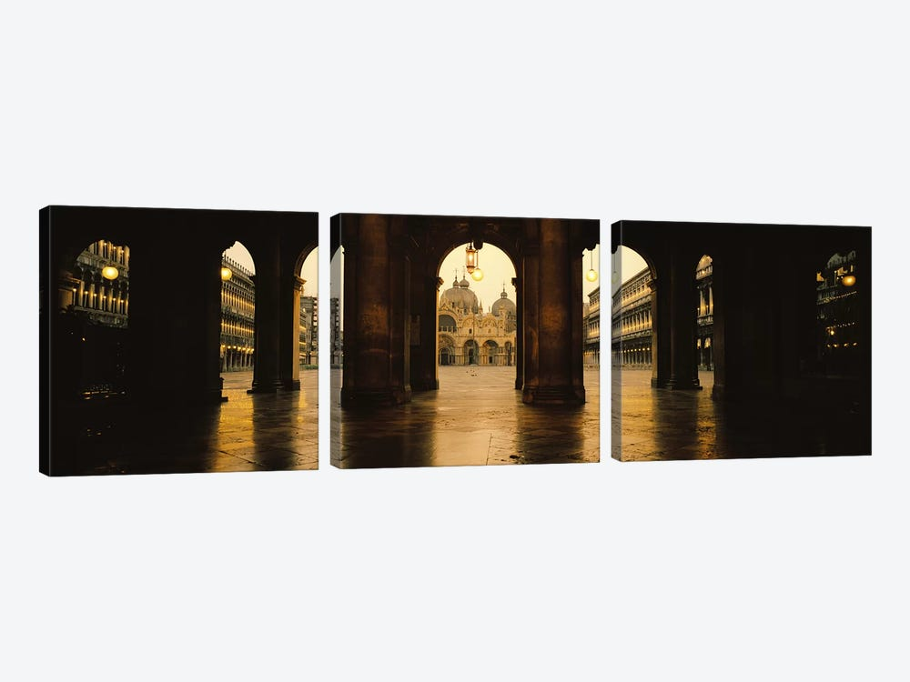 St. Mark's Basilica As Seen From The Arcade At The Opposite End Of St. Mark's Square, Venice, Italy by Panoramic Images 3-piece Art Print