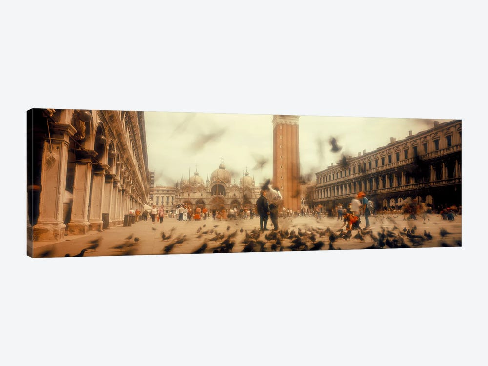 Flock of pigeons flyingSt. Mark's Square, Venice, Italy by Panoramic Images 1-piece Art Print