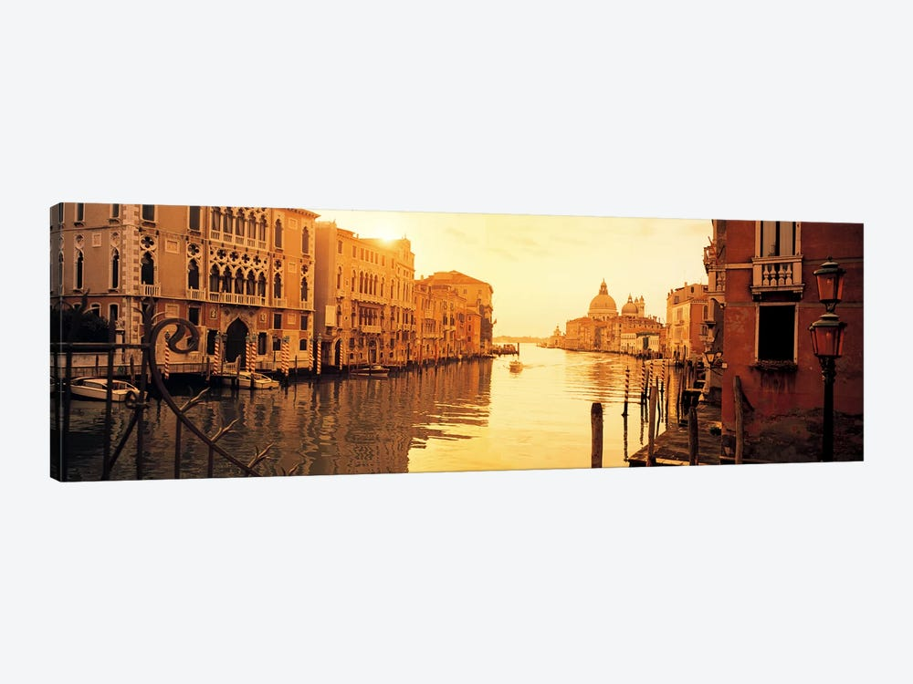 Waterfront Property, Grand Canal, Venice, Italy by Panoramic Images 1-piece Canvas Art