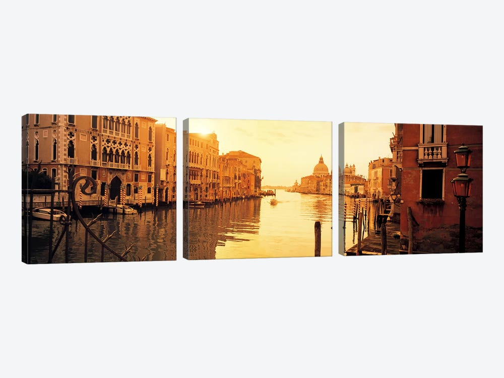 Waterfront Property, Grand Canal, Venice, Italy by Panoramic Images 3-piece Canvas Art