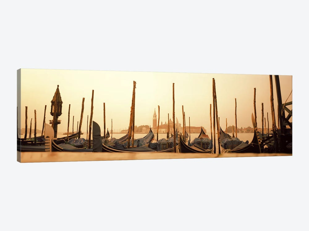 Moored Gondolas, San Marco Giardinetti Terminal, Venice, Italy by Panoramic Images 1-piece Canvas Art Print