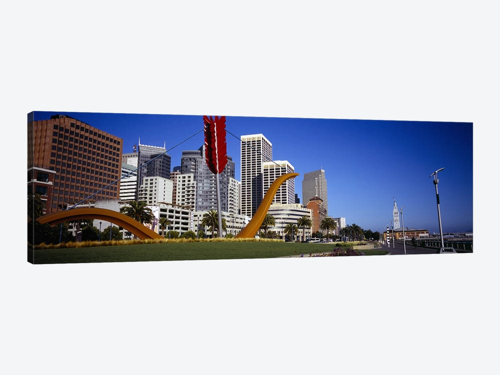 Low angle view of a sculpture in front of buildingsSan Francisco, California, USA by Panoramic Images 1-piece Canvas Artwork