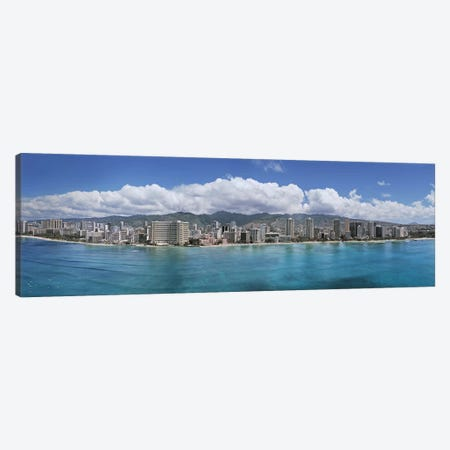 Buildings at the waterfront, Honolulu, Oahu, Hawaii, USA Canvas Print #PIM5831} by Panoramic Images Canvas Art Print