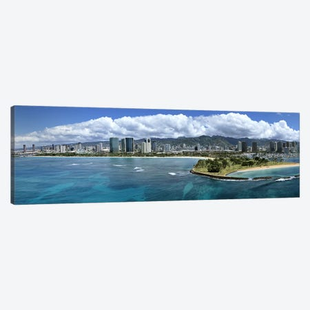 Buildings at the waterfront, Honolulu, Oahu, Hawaii, USA Canvas Print #PIM5833} by Panoramic Images Art Print