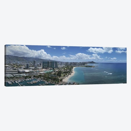 Buildings in a cityHonolulu, Oahu, Hawaii, USA Canvas Print #PIM5834} by Panoramic Images Canvas Artwork