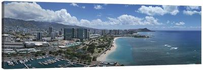 Buildings in a cityHonolulu, Oahu, Hawaii, USA Canvas Print #PIM5834