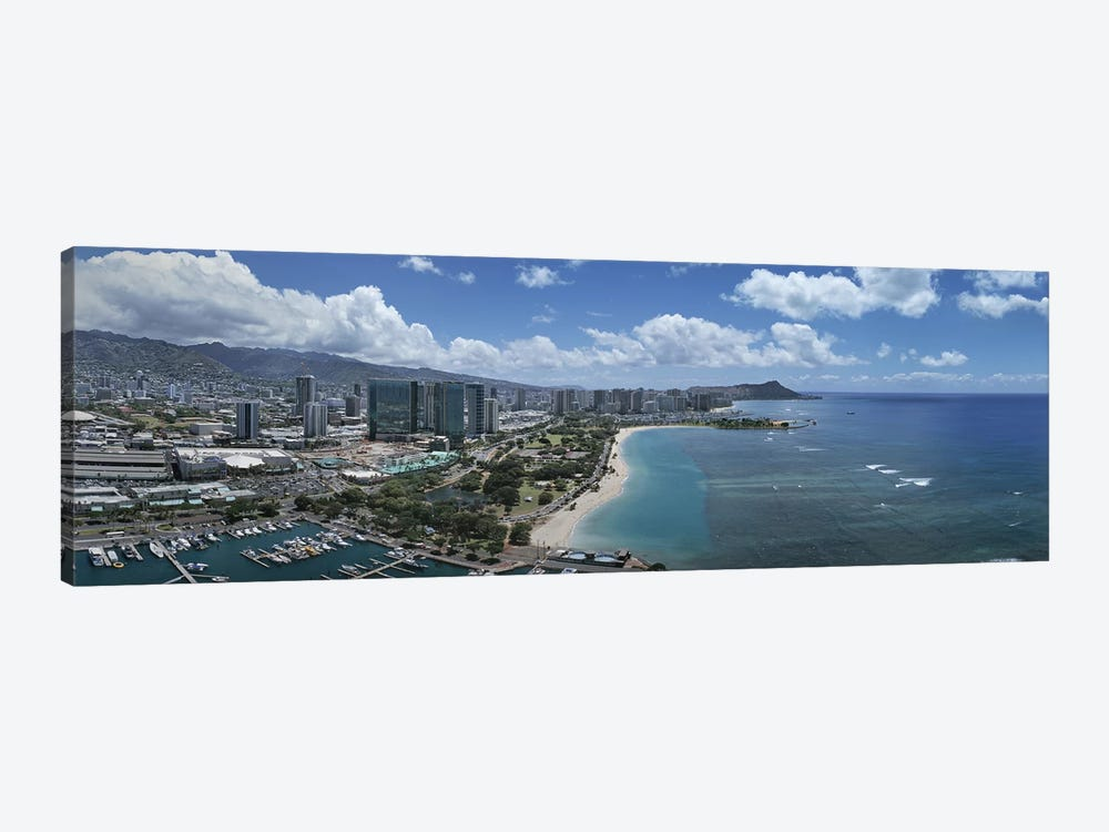 Buildings in a cityHonolulu, Oahu, Hawaii, USA by Panoramic Images 1-piece Canvas Artwork
