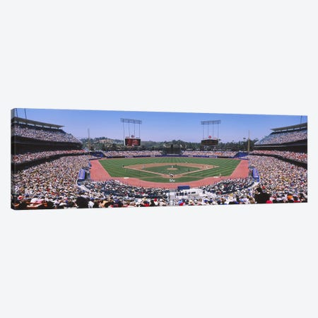 Dodgers vs. Angels, Dodger Stadium, Los Angeles, California, USA Canvas Print #PIM5836} by Panoramic Images Canvas Artwork