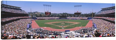 Dodgers vs. Angels, Dodger Stadium, Los Angeles, California, USA Canvas Art Print