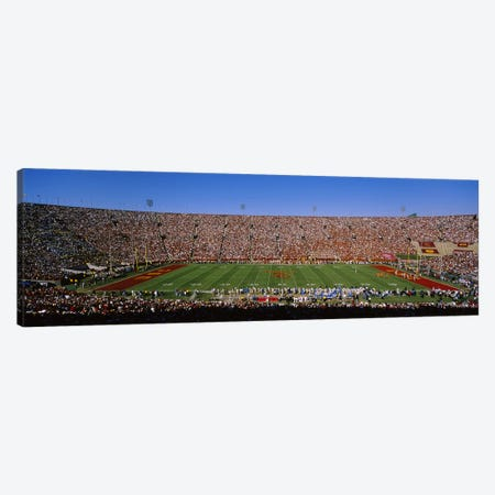 High angle view of a football stadium full of spectators, Los Angeles Memorial Coliseum, City of Los Angeles, California, USA Canvas Print #PIM5837} by Panoramic Images Canvas Artwork